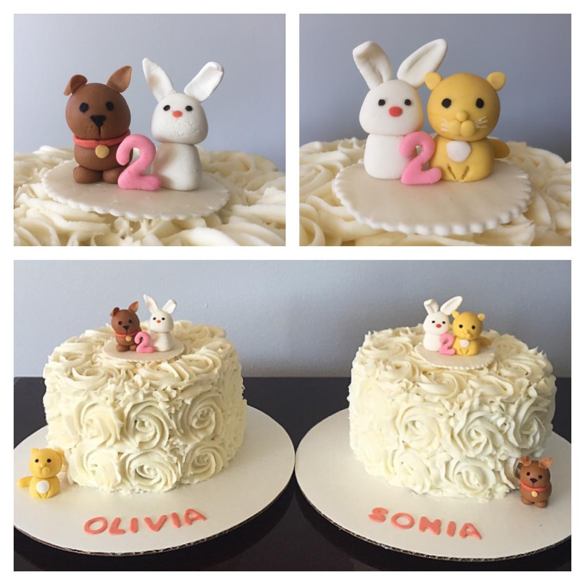 Stupendous Baby Animals Birthday Cake Jcycakes Funny Birthday Cards Online Benoljebrpdamsfinfo